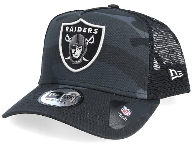 79e14f65ef130 Oakland Raiders Essential Black Camo Trucker - New Era caps -  Hatstoreworld.com