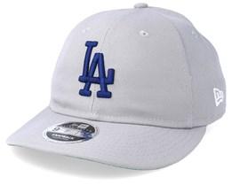 5cce482b87577 Los Angeles Dodgers 9Fifty Retro Crown Grey Navy Snapback - New Era
