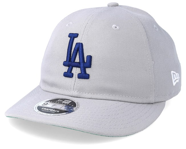 wholesale dealer d70e9 a2904 Los Angeles Dodgers 9Fifty Retro Crown Grey Navy Snapback - New Era