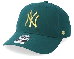 New York Yankees Metallic 47 Mvp Wool Pacific Green/Gold Adjustable - 47 Brand
