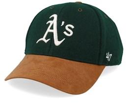 Oakland Athletics Willowbrook 47 Mvp Wool Dark Green/Camel Adjustable - 47 Brand
