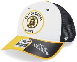 Boston Bruins Swell Mvp Dv White/Black/Yellow Trucker - 47 Brand