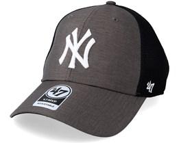 New York Yankees Grim 47 Mvp Mesh Dark Grey/Black Adjustable - 47 Brand
