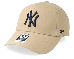 New York Yankees 47 Mvp Wool Khaki/Black Adjustable - 47 Brand