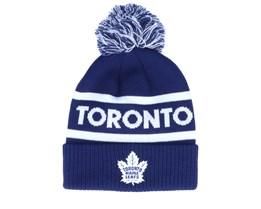 Toronto Maple Leafs Cuffed Knit Blue/White Pom - Adidas
