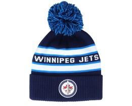 Winnipeg Jets Culture Cuffed Knit Navy Pom - Adidas