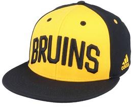 Boston Bruins Flat Brim Yellow/Black Snapback - Adidas