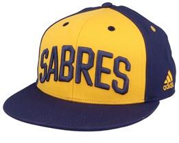 Buffalo Sabres Flat Brim Yellow/Navy Snapback - Adidas