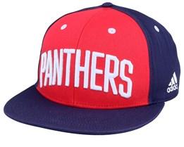 Florida Panthers Flat Brim Red/Navy Snapback - Adidas