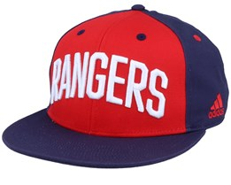 New York Rangers Flat Brim Red/Navy Snapback - Adidas
