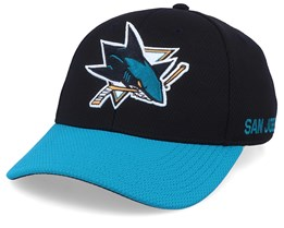 San Jose Sharks Coach Black/Blue Flexfit - Adidas