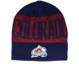 Colorado Avalanche 19 Navy/Maroon Beanie - Adidas