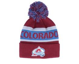Colorado Avalanche Cuffed Knit Burgundy/Blue Pom - Adidas