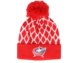 Columbus Blue Jackets Culture Cuffed Knit Red Pom - Adidas