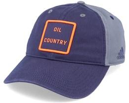Edmonton Oilers Cotton Slouch Navy/Grey Adjustable - Adidas