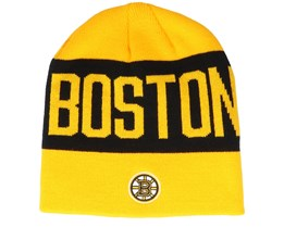Boston Bruins 19 Yellow/Black Beanie - Adidas