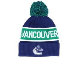 Vancouver Canucks Cuffed Knit Blue/Green Pom - Adidas