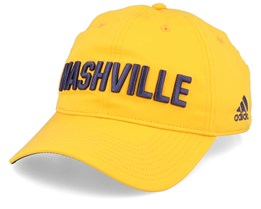 Nashville Predators Coach Yellow/Navy Adjustable - Adidas