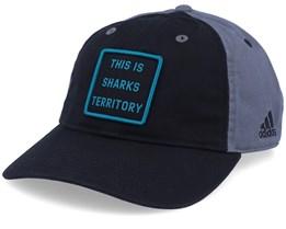 San Jose Sharks Cotton Slouch Black/Grey Adjustable - Adidas