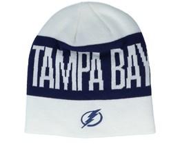 Tampa Bay Lightning 19 White/Navy Beanie - Adidas