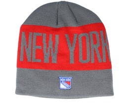 New York Rangers 19 Grey/Red Beanie - Adidas