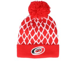 Carolina Hurricanes Culture Cuffed Knit Red Pom - Adidas