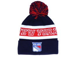 New York Rangers Cuffed Knit Blue/Red Pom - Adidas