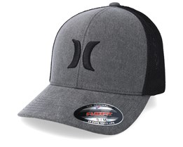 Icon Textures Grey/Black Mesh Flexfit - Hurley