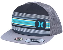 Kids Mixtape 2.0 Stripes Charcoal/Grey/Grey Trucker - Hurley