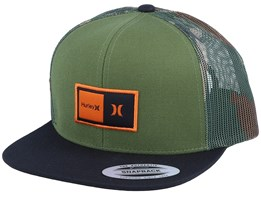 Natural Green/Black/Camo Trucker - Hurley