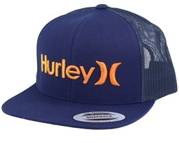 O&O Gradient Navy/Orange Trucker - Hurley