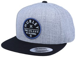 Union Heather Grey/Black Snapback - Hurley