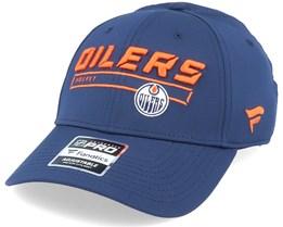 Edmonton Oilers Authenic Pro Rinkside Navy Adjustable - Fanatics