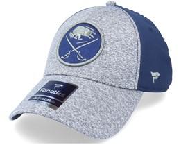 Buffalo Sabres Primary Logo Marled Tech Velcro Sports Grey/Navy Adjustable - Fanatics