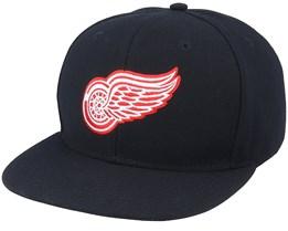 Detroit Red Wings Core Black Snapback - Fanatics