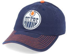 Edmonton Oilers Fan Unstructured Navy Adjustable - Fanatics