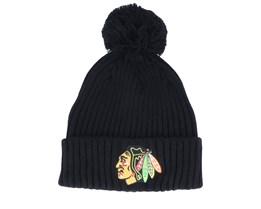 Chicago Blackhawks Value Core Beanie Black Pom - Fanatics