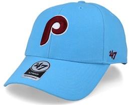 Philadelphia Phillies Cooperstown Mvp Columbia Blue Adjustable  - 47 Brand