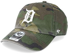 Detroit Tigers 47 Clean Up Camo/White Adjustable - 47 Brand
