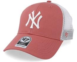 New York Yankees Tiffany Flagship 47 Mvp Mesh Island Red Trucker - 47 Brand
