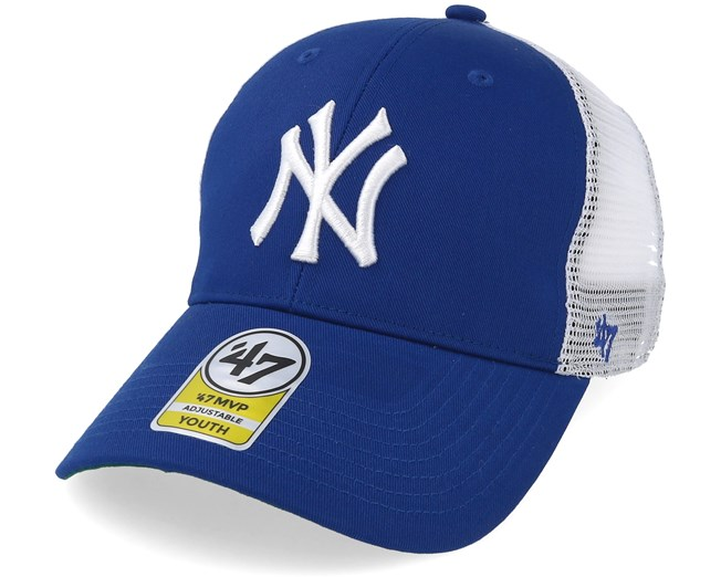 02a12907a89 Kids New York Yankees Branson 47 Mvp Mesh Royal White Trucker - 47 Brand