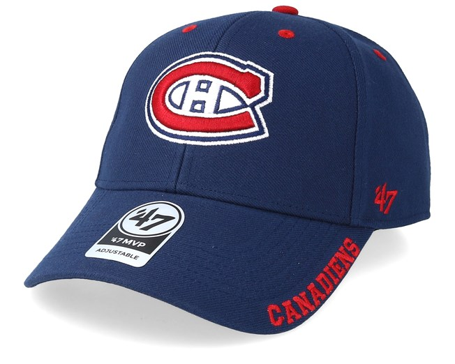 release date: 24d45 02c80 Montreal Canadiens Defrost 47 Mvp Black Navy Red Adjustable - 47 Brand caps  - Hatstorecanada.com