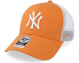 New York Yankees Tiffany Flagship 47 Mvp Mesh Mango Trucker - 47 Brand