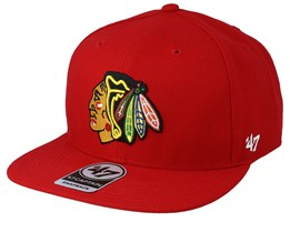 Chicago Blackhawks No Shot 47 Captain Red Snapback - 47 Brand