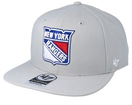 New York Rangers No Shot 47 Captain Grey Snapback - 47 Brand