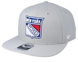 New York Rangers No Shot 47 Captain Grey Snapback - 47 Brand