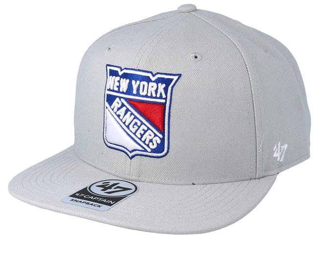 outlet store sale buy sale on feet shots of New York Rangers No Shot 47 Captain Grey Snapback - 47 Brand caps ...
