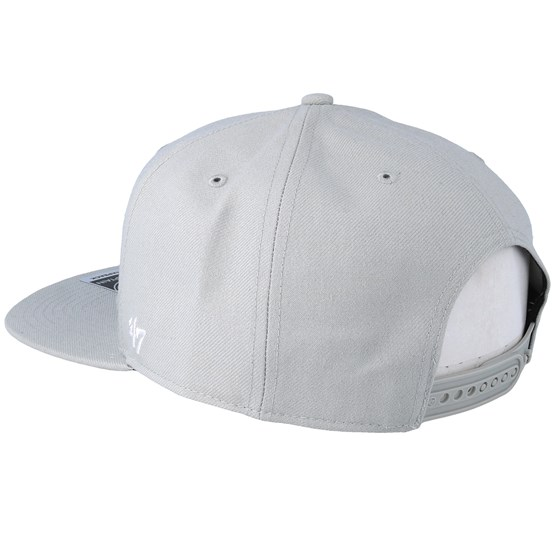 57083aa2103 New York Rangers No Shot 47 Captain Grey Snapback - 47 Brand caps -  Hatstoreaustralia.com