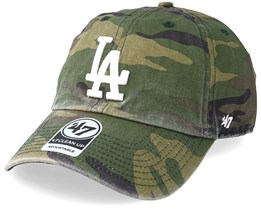 Los Angeles Dodgers 47 Clean Up Camo White Adjustable - 47 Brand 30d63117454