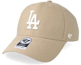 Los Angeles Dodgers 47 Mvp Khaki White Adjustable - 47 Brand 23707867568